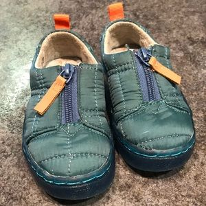 Stellar Blue Quilted Tiny TOMS Lenny Sneakers